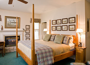trophy room themed bed and breakfast room
