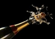 Ultimate Luxury - champagne bottle exploding