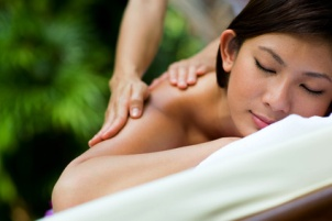 woman receiving massage - half day massage