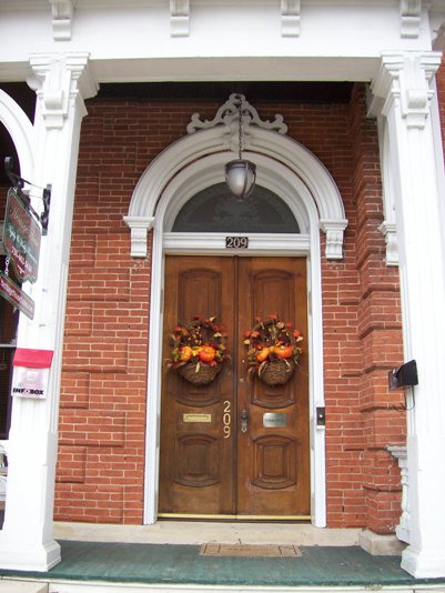 Heritage House entrance front doors
