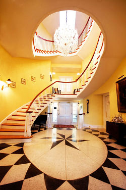 christopher place with lobby spiral stairs