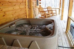 private hot tub cabin