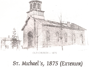 black and white sketch of st michael's church