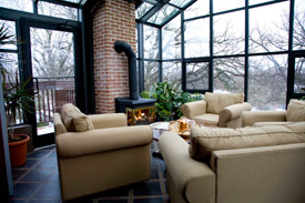 penthouse condo sitting area