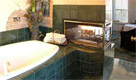 marble bath with fireplace
