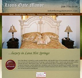 Lions Gate Manor website