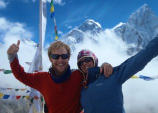 Mt. Everest in the Himalayas, Nepal, Erika Hertel, Mark Carroll