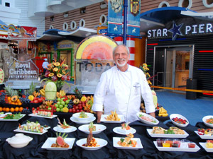 Chef Gerd Hertel onboard the Oasis of the Seas featured on the Today Show