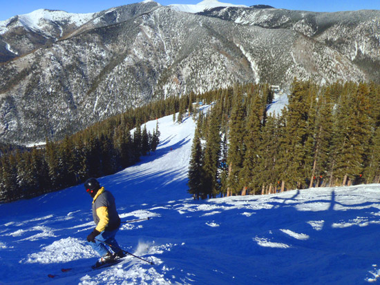 Skiing in Taos,