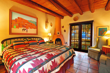La Vista room at Hacienda del Sol Bed & Breakfast in Taos NM