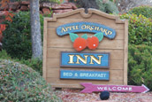 Apple Orchard B&amp;B sign