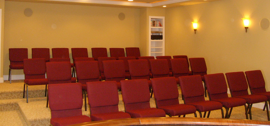 chairs in movie room