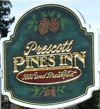 Prescott Pines Inn Bed and Breakfast Sign
