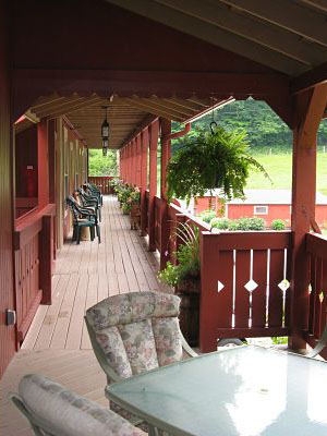 The Barn Inn porch
