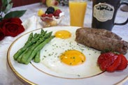 Amish-style breakfast at Barn Inn Bed and breakfast in Millersburg, OH
