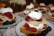 Strawberry Shortcake at The Barn Inn bed and breakfast