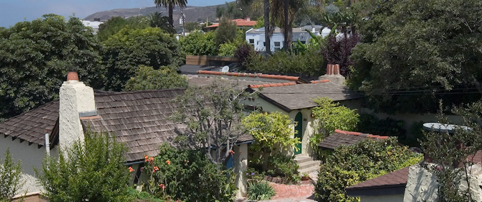 Top view of Manzanita Cottages
