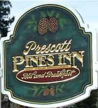 Prescott Pines Inn Bed and Breakfast Sign
