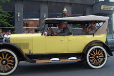 old vintage yellow automobile Foster