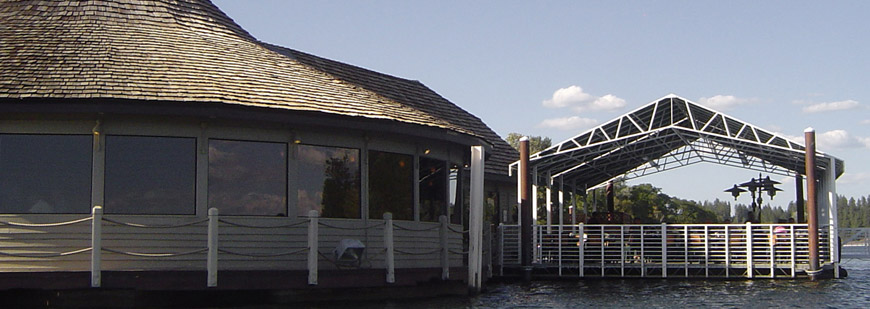 Cedars Floating fine dining Restaurant in Coeur d'Alene Idaho