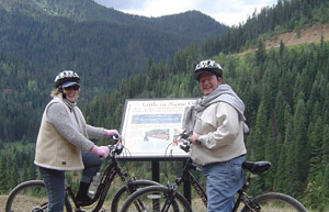 Biking in the mountains for outdoor recreation in Coeur d'Alene