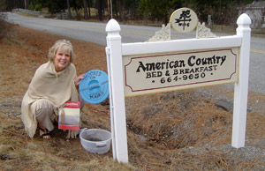Geocaching near American Country Bed and Breakfast