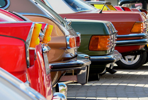 Cars at a car show