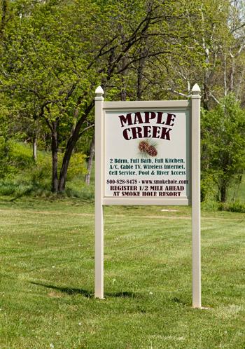 Maple Creek sign