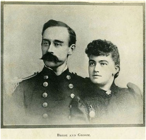 Admiral Robert E. Peary and wife photograph