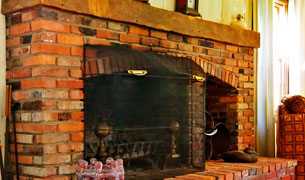 Admiral Peary Fireplace