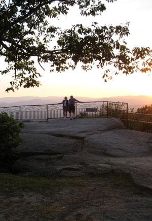 Jump Off Rock in Laurel Park, NC