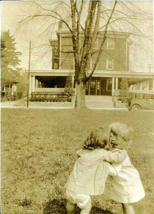 Historic photo of children in front of Inn on Church Bed and Breakfast