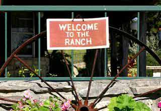 Welcome to the ranch, texas bed and breakfast