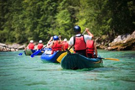 Rafting in the Smoky Mountains of Tennessee in the Pigeon River