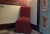 red chair green door