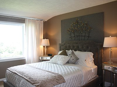 Blossom Suite Bedroom at Apple Hill at the Barn Inn Bed and Breakfast in Millersburg, Ohio