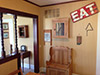 dining room with eat sign