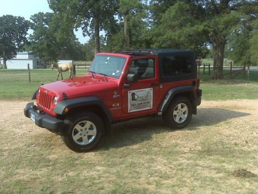 Country Butler Red Jeep