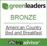 American Country Bed and Breakfast tripadvisor green leaders award