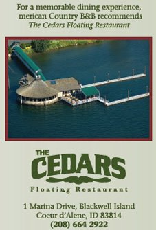 Cedars Floating Restaurant in Coeur d'Alene Idaho