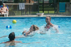 Swimming at Smoke Hole Resort