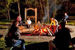 Campfire at Smoke Hole Resort