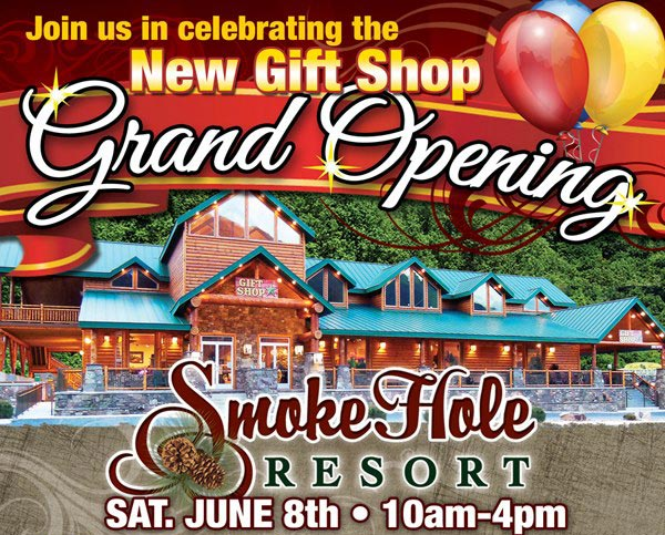 Gift Shop Grand Opening Event at Smoke Hole Resort