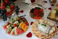 Fruit platter and other tea party foods