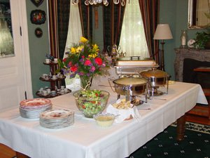 Catering available at Inn of Many Faces Bed and Breakfast