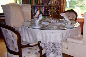 tea room with place settings
