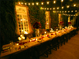 dining table for a party