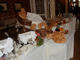 food at the wedding reception