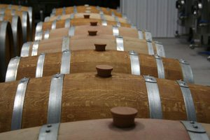 picture of wine barrels from Brix Winery