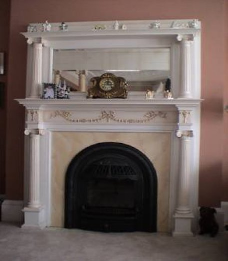 double parlour showing the south fireplace
